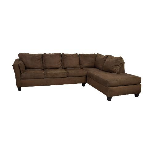 Used Bob's Discount 3 Piece Brown Sectional for sale on AptDeco
