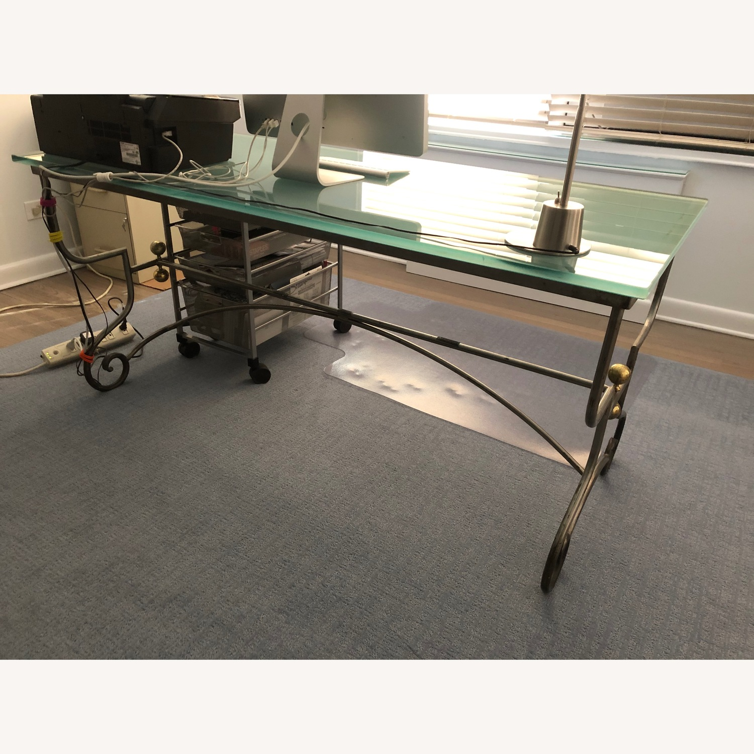Metal & Glass Dining Table/desk