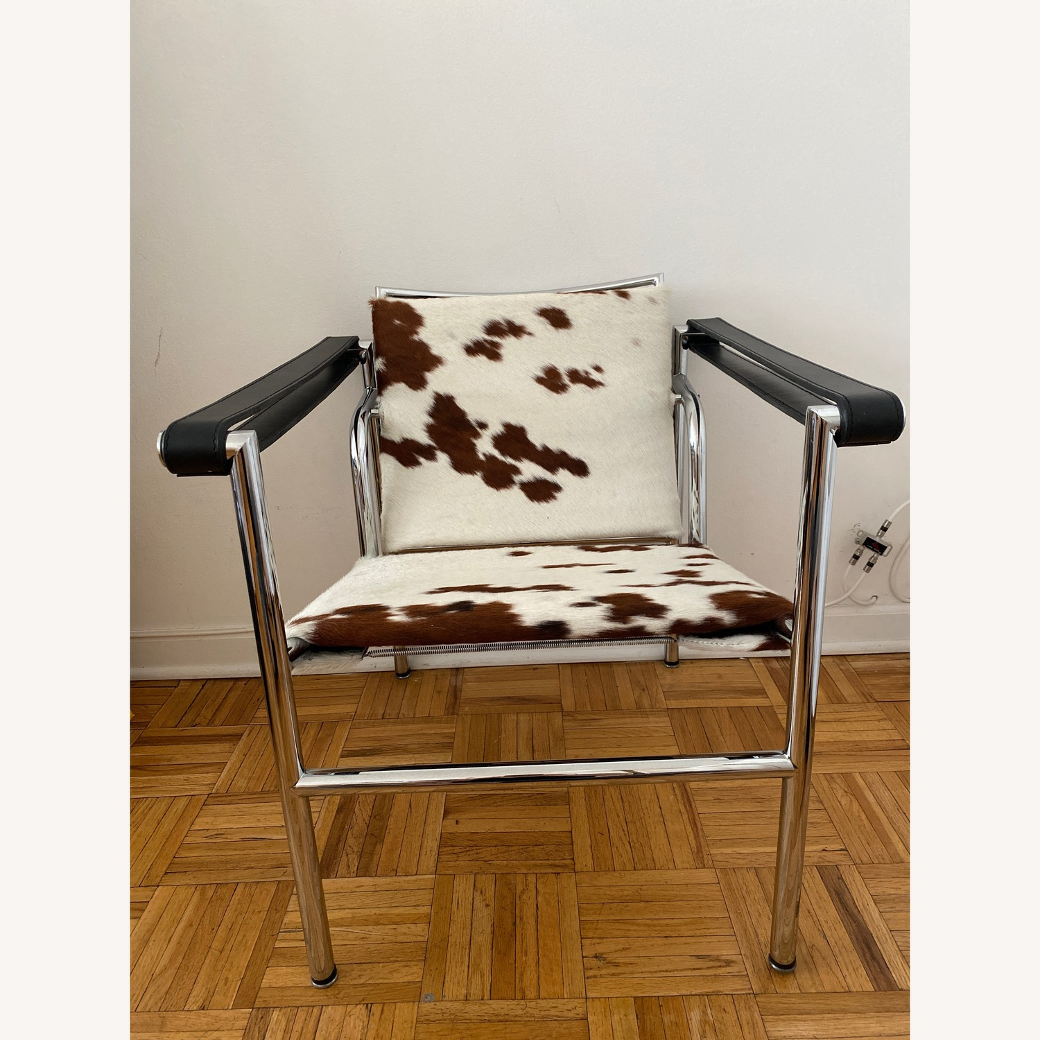 Wassily Inspired Cowhide Chair
