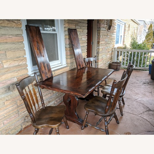 Used 5-piece Antique Dining Set for sale on AptDeco