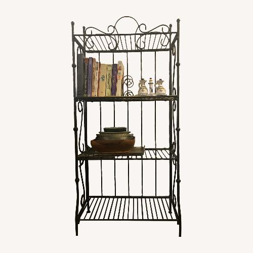 Used Wrought Iron Bakers Rack for sale on AptDeco