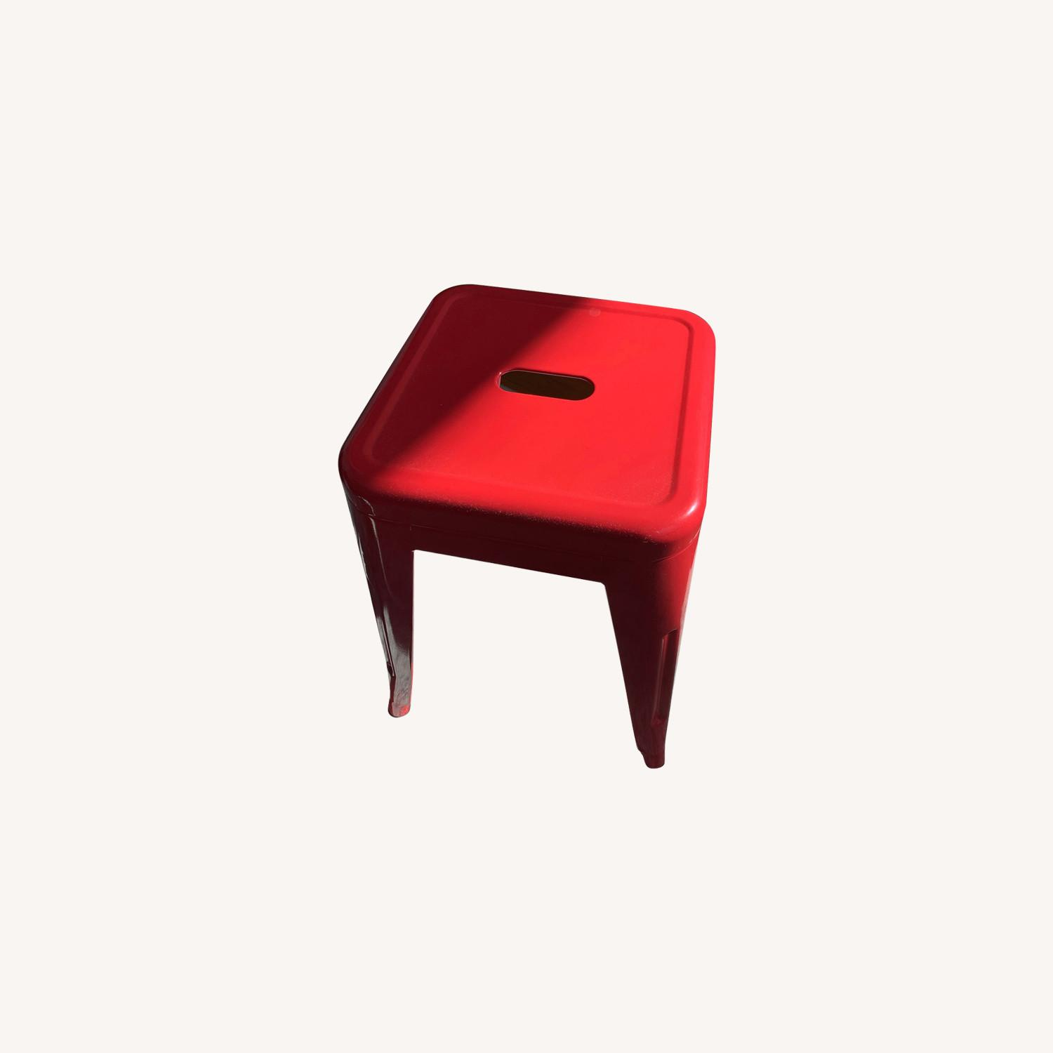 Industrial Red Stool - image-0
