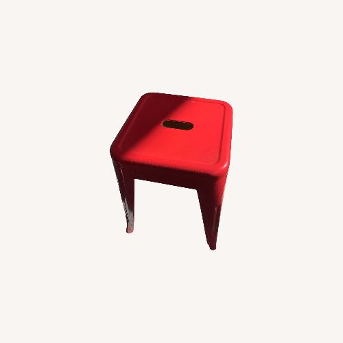 Used Industrial Red Stool for sale on AptDeco