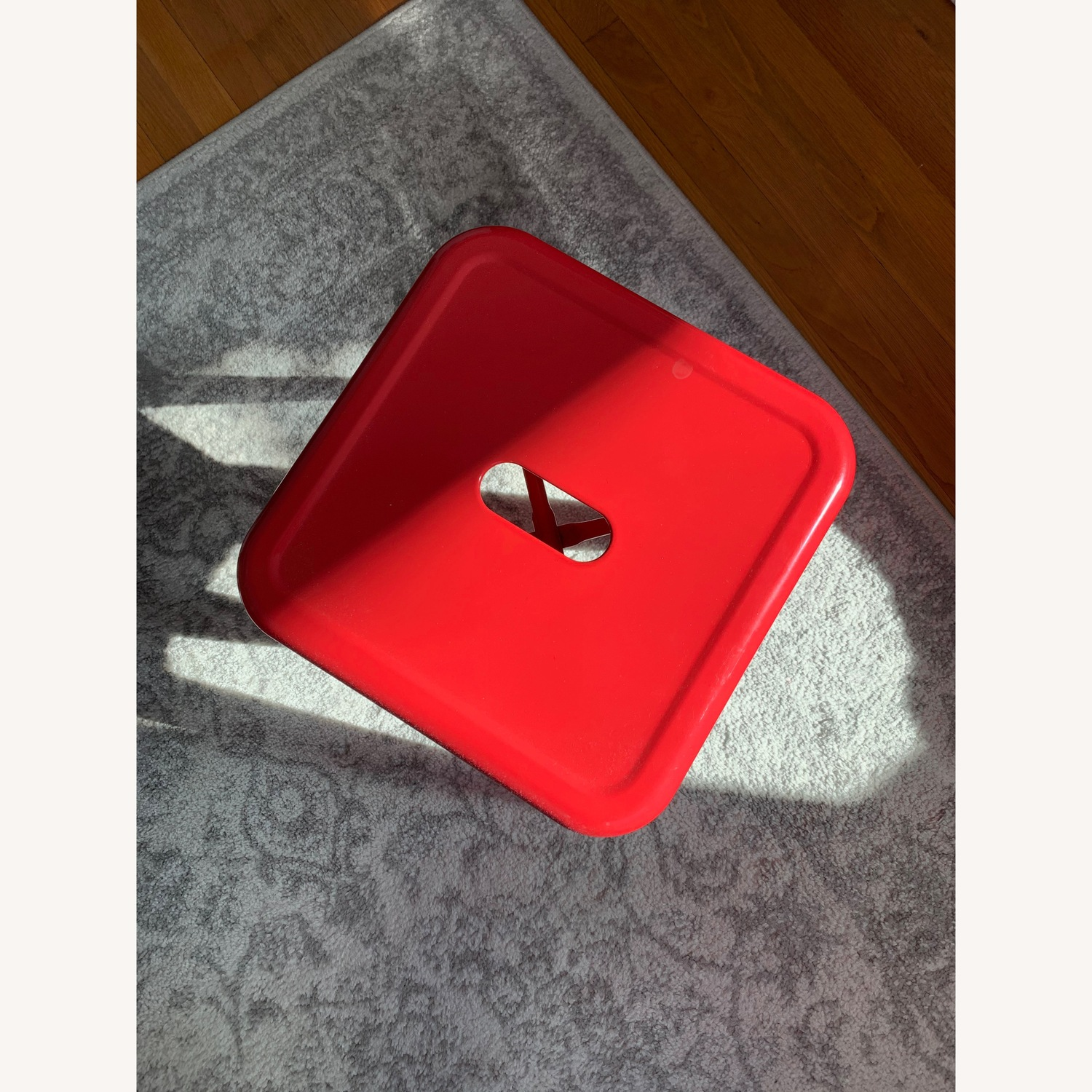 Industrial Red Stool - image-2