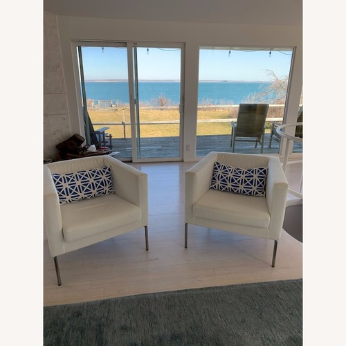 Used White Armchairs - Set of 2 for sale on AptDeco