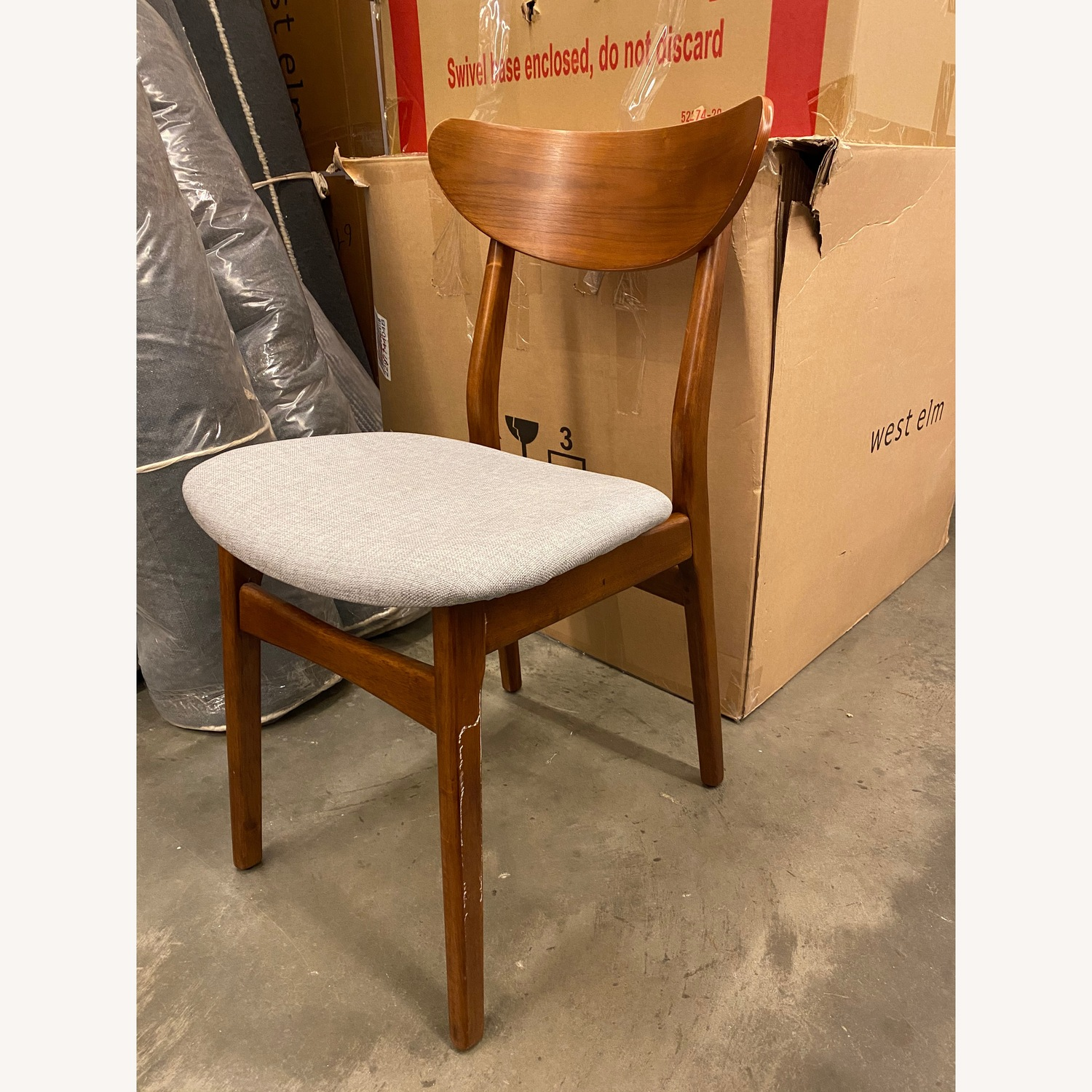 West Elm Classic Cafe Upholstered Dining Chair - image-3