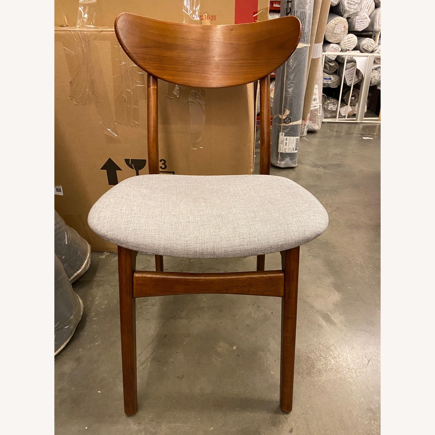 West Elm Classic Cafe Upholstered Dining Chair - image-2