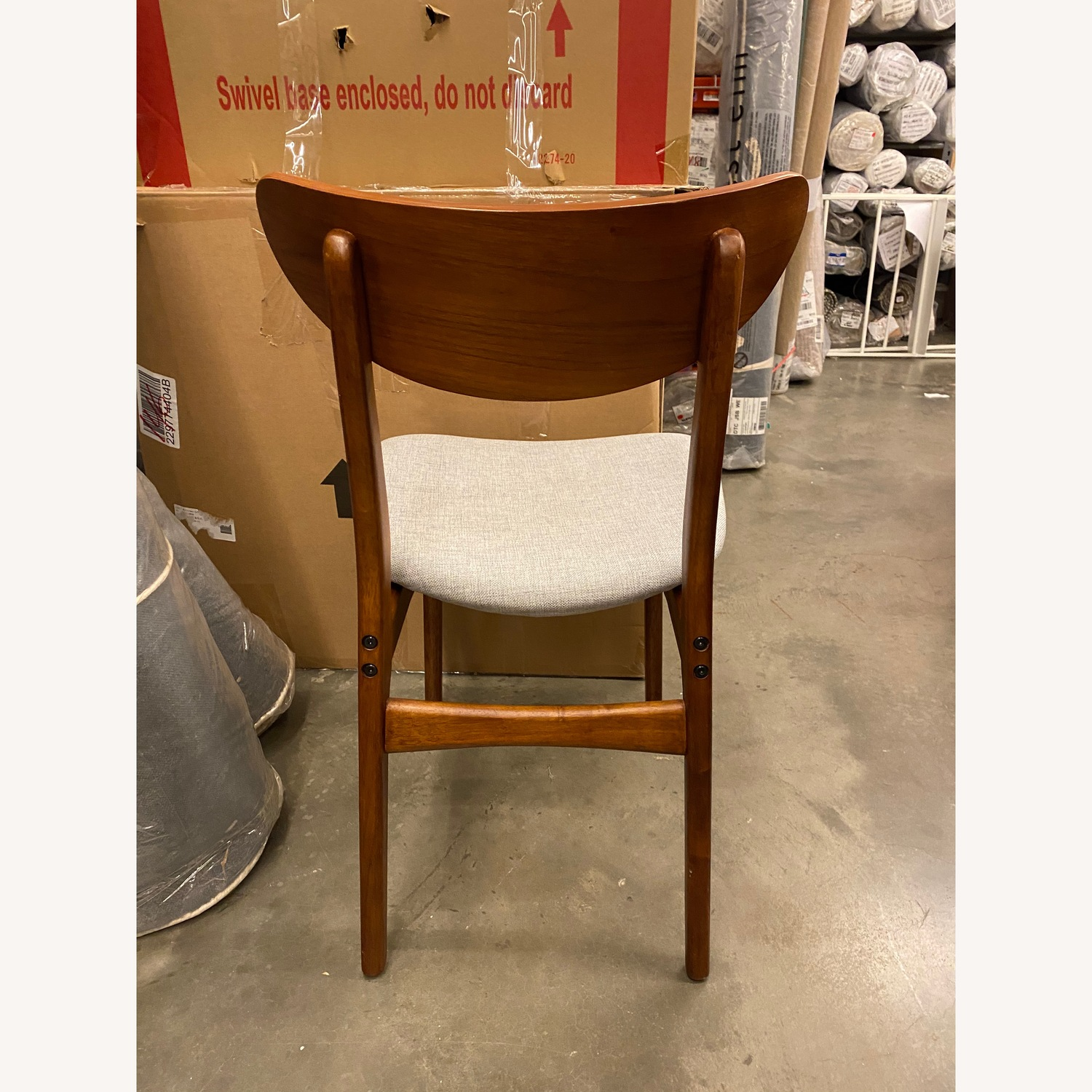 West Elm Classic Cafe Upholstered Dining Chair - image-4