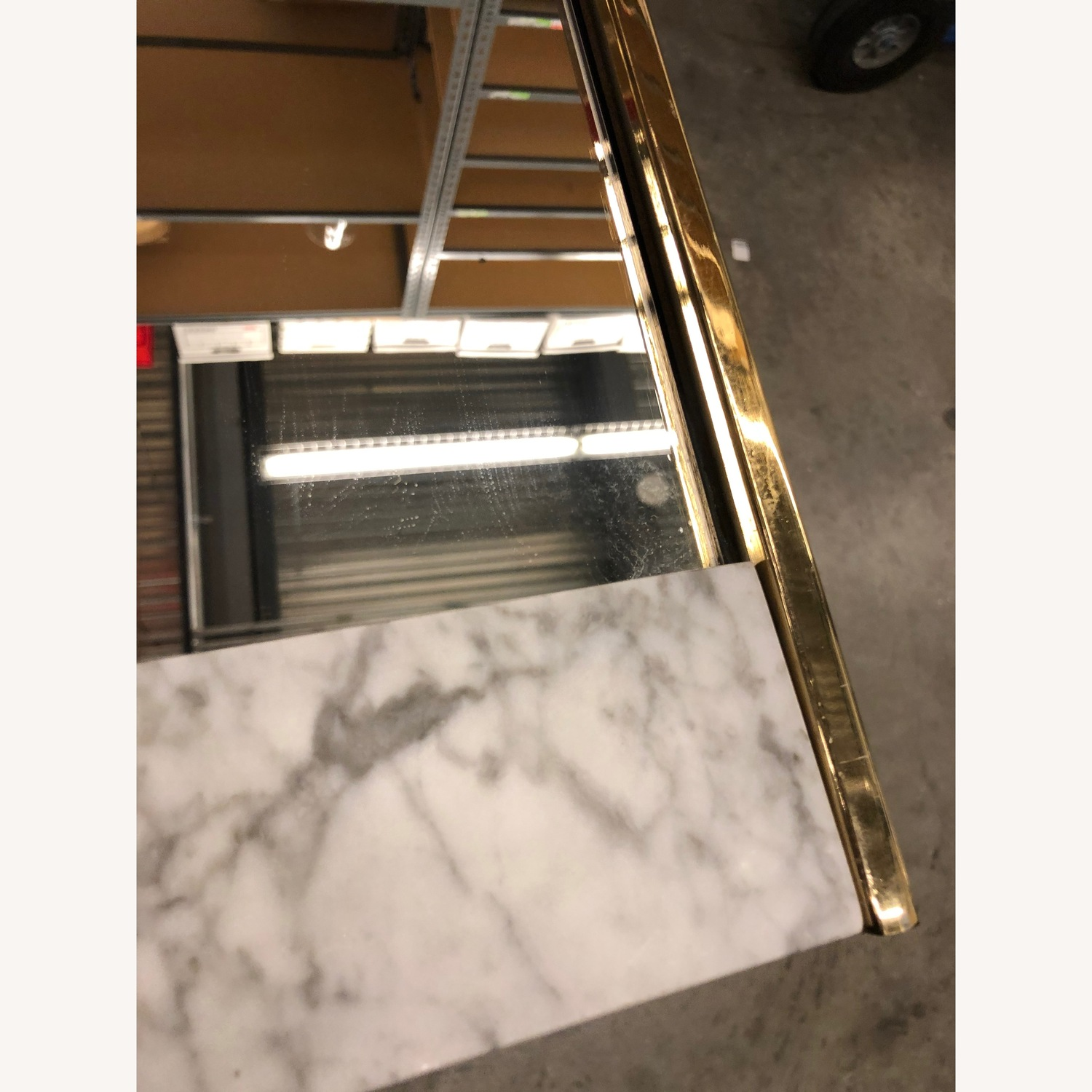 West Elm Marble and Brass Wall Mirror - image-1