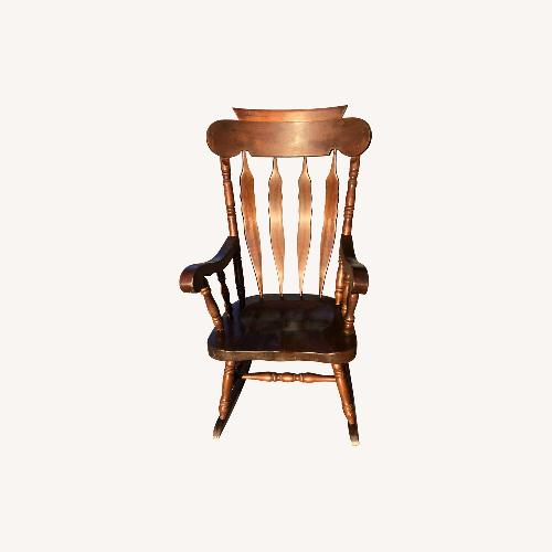 Used Vintage 1970s Solid Wood Rocking Chair for sale on AptDeco
