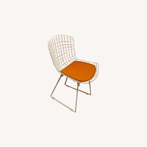 Used Vienna Side Chair White/Orange Fabric for sale on AptDeco