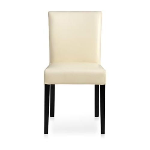 Used Crate & Barrel Lowe Ivory Leather Dining Chair for sale on AptDeco