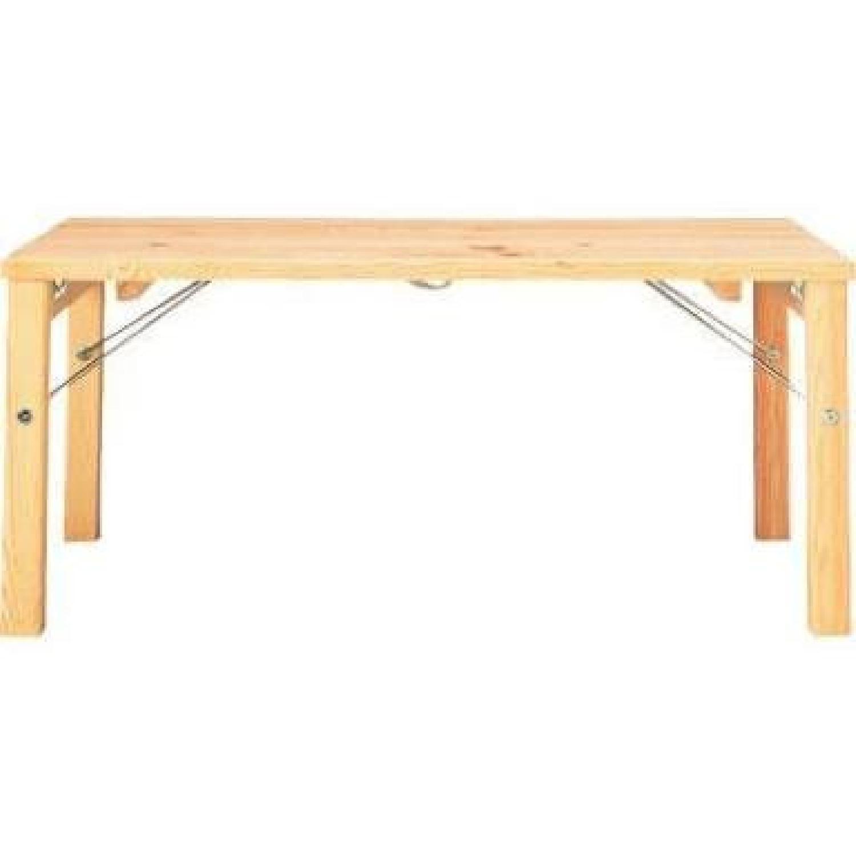 Muji Pinewood Low Coffee Table - image-0