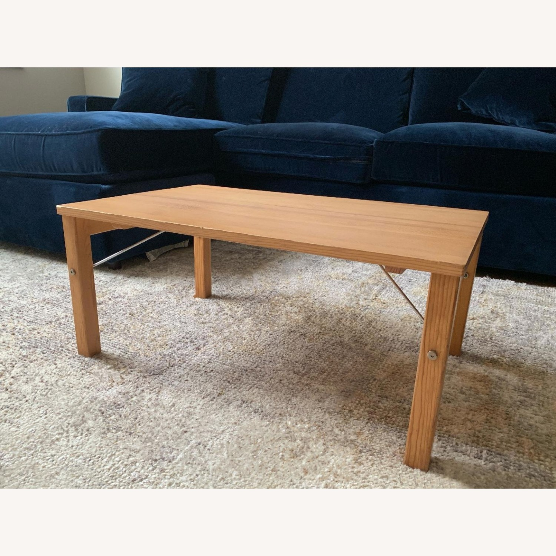 Muji Pinewood Low Coffee Table - image-1