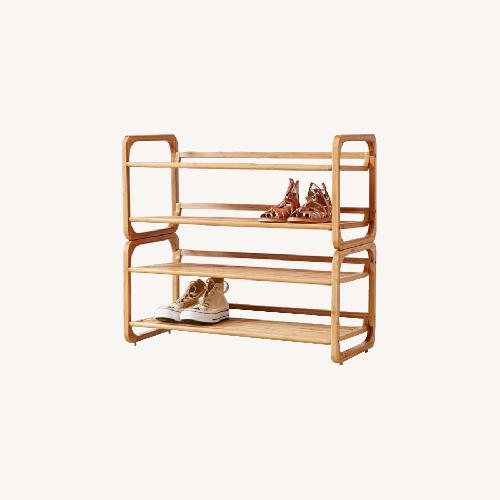 Used Urban Outfitters Stackable Bamboo Shoe Rack for sale on AptDeco