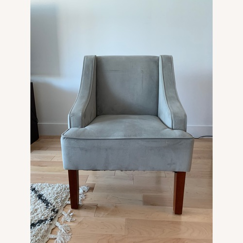 Used Light Grey Accent Chair for sale on AptDeco