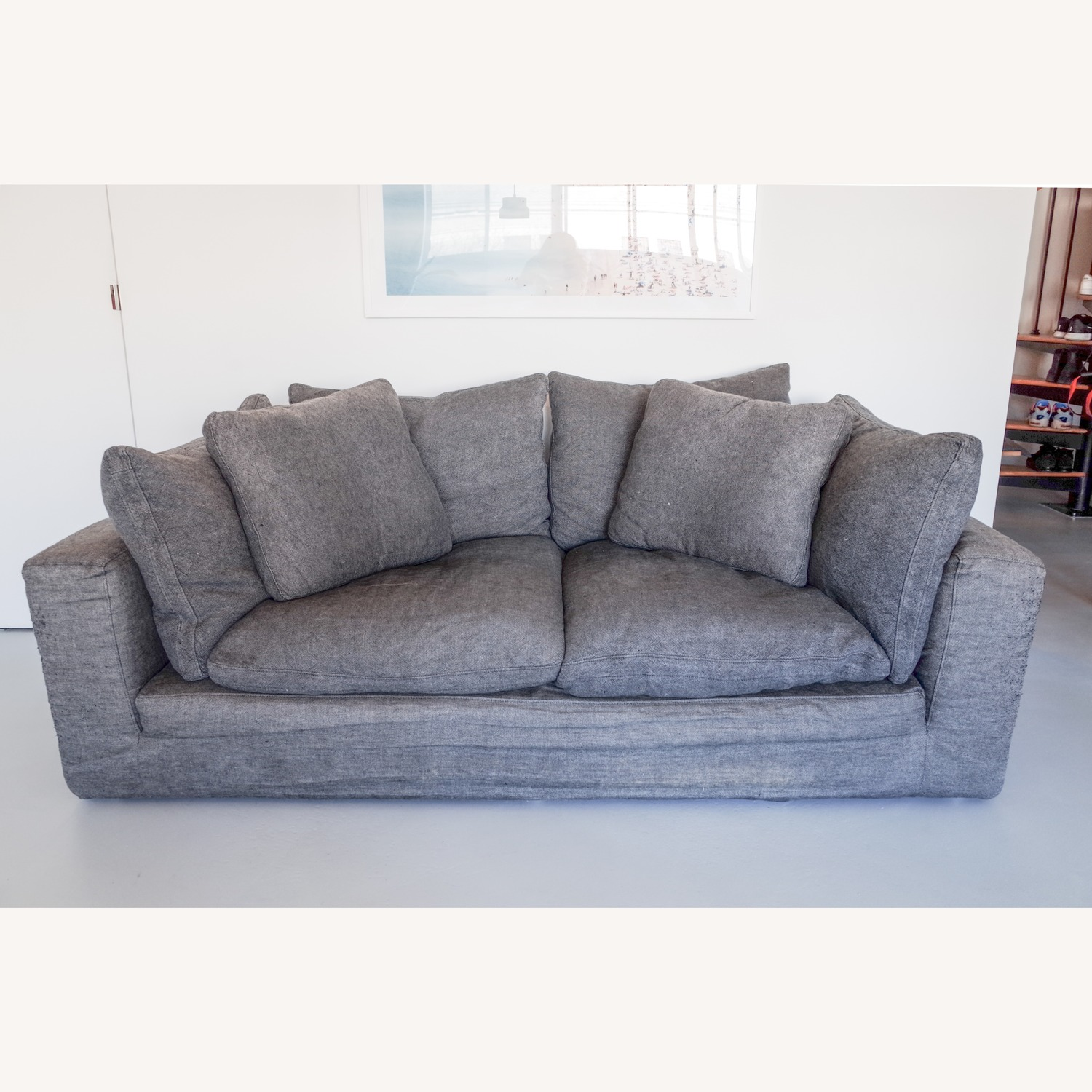 Restoration Hardware Cloud 2 Seat Cushion Sofa - image-1