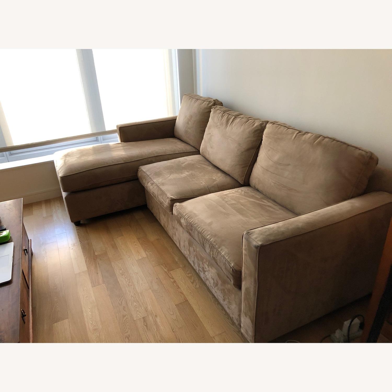 Crate & Barrel 2-Piece Sectional Sofa - image-2