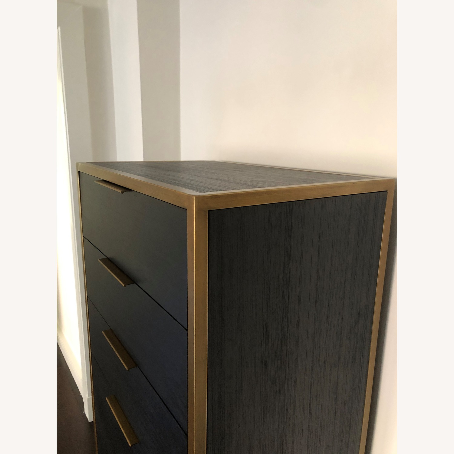 Crate & Barrel Oxford Black 6-Drawer Tall Chest - image-4