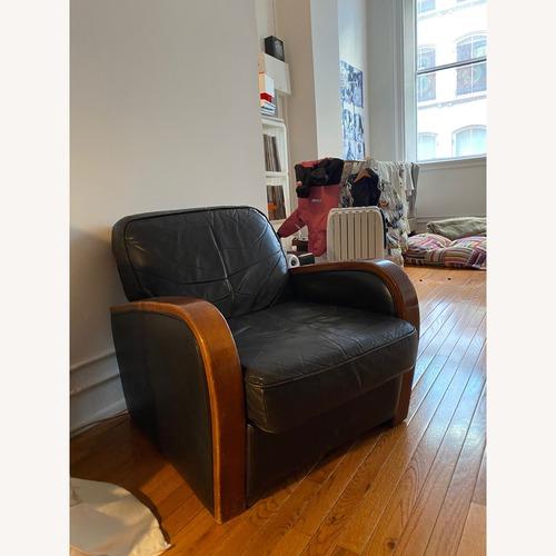 Used 1940s Vintage Club Leather Armchair for sale on AptDeco