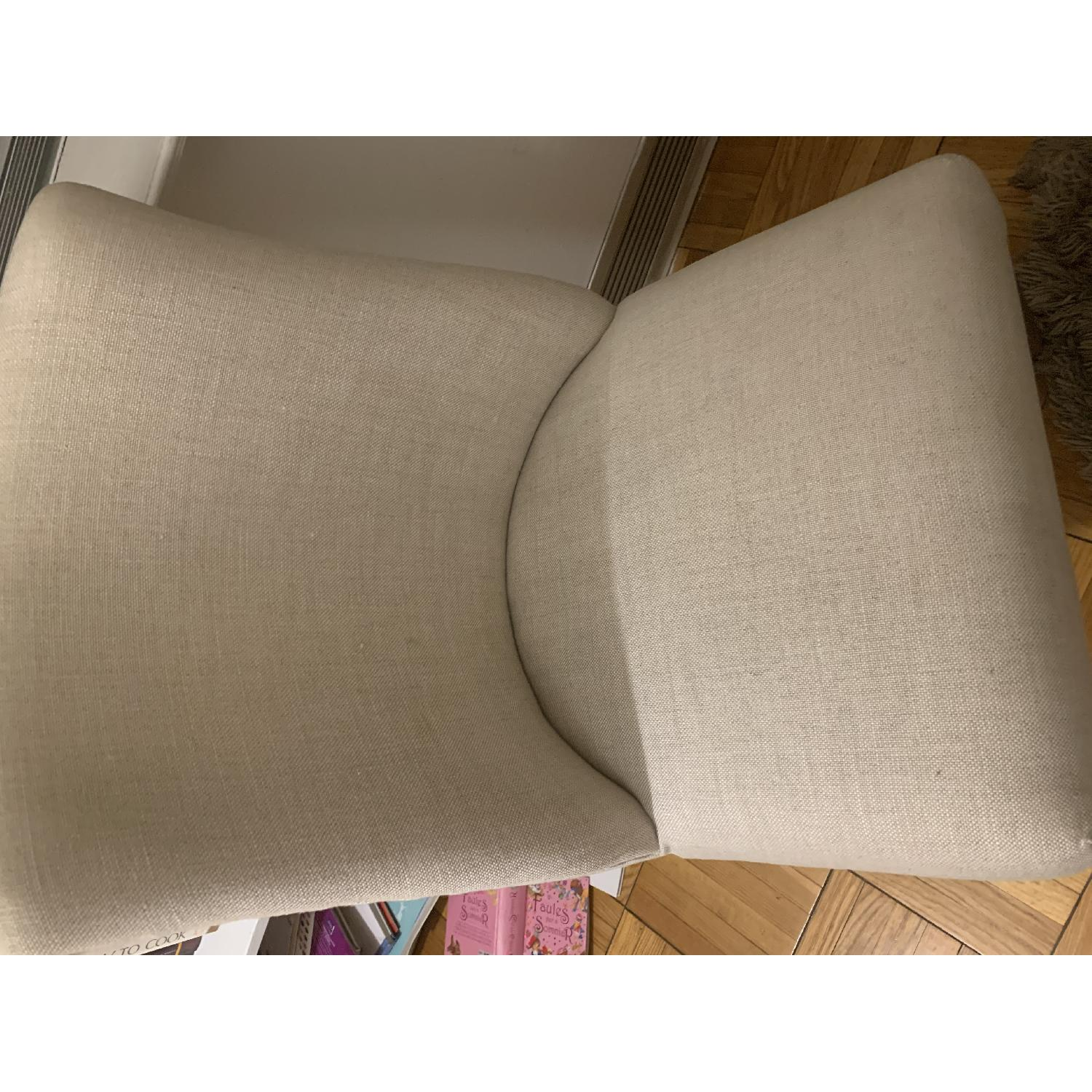 Restoration Hardware 1940S French Barrelback Fabric Chair - image-6