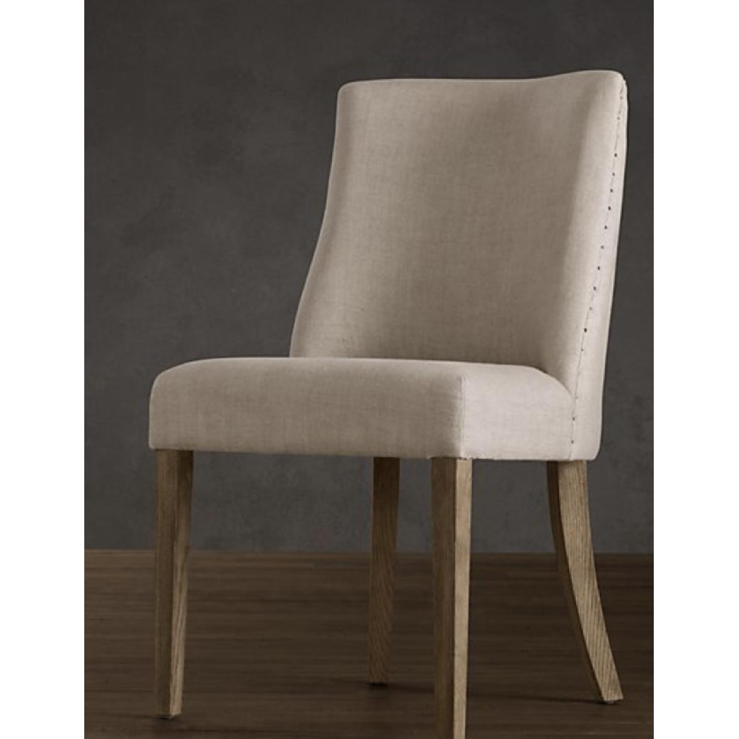 Restoration Hardware 1940S French Barrelback Fabric Chair - image-1