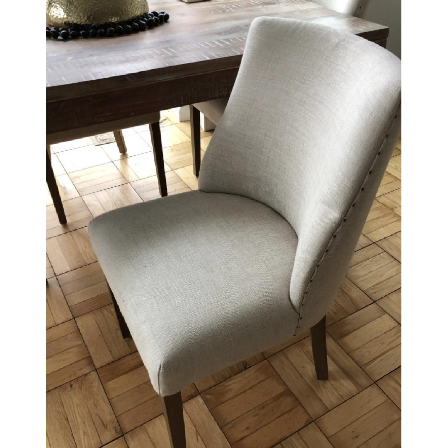 Restoration Hardware 1940S French Barrelback Fabric Chair - image-2