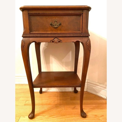 Used Antique Bedside Nightstand End Side Table for sale on AptDeco