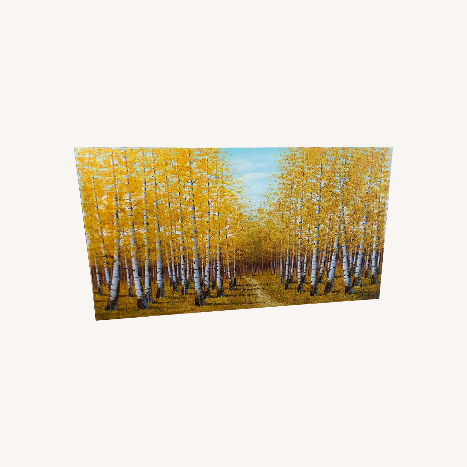 Autumn Bamboo Forest Painting on Canvas - image-0