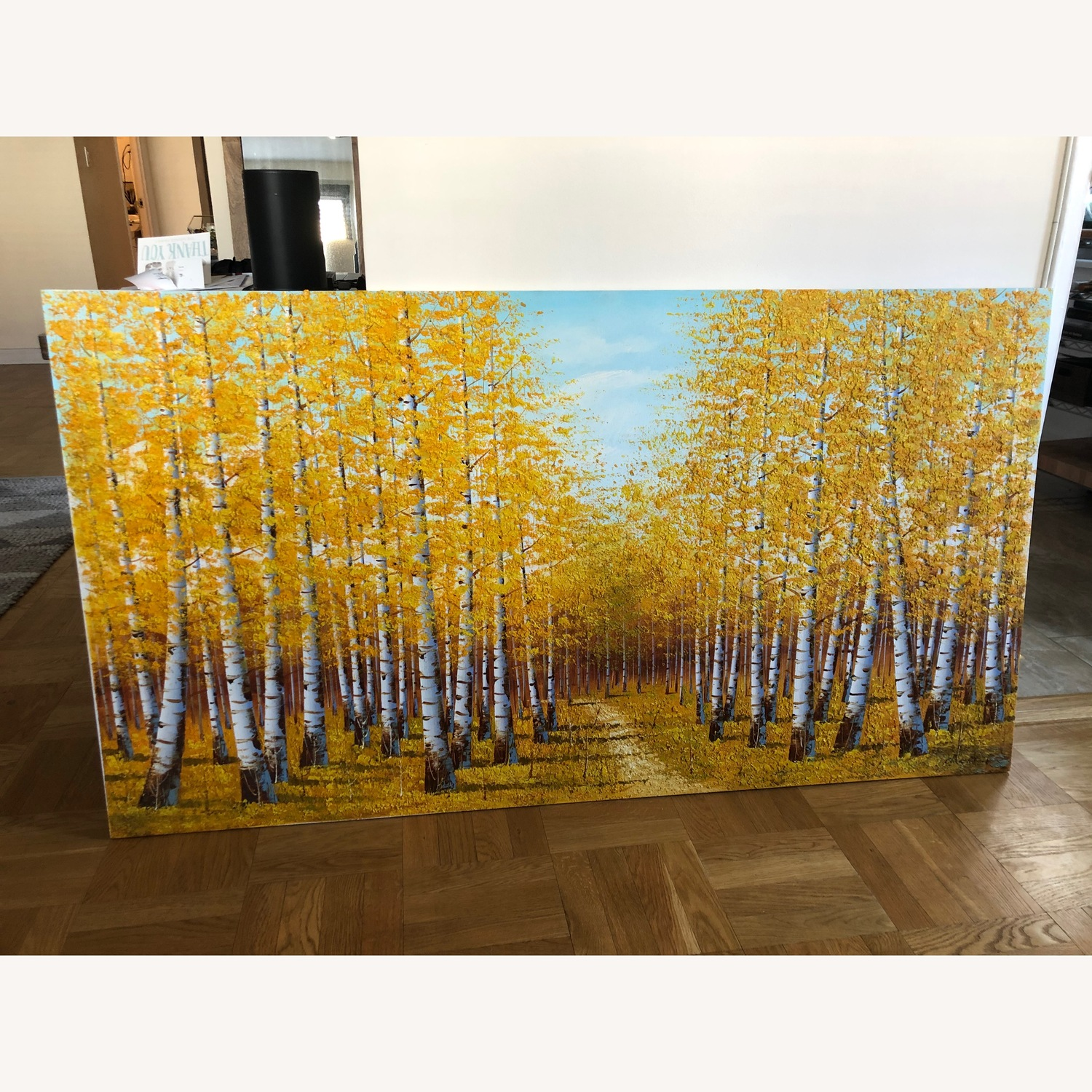 Autumn Bamboo Forest Painting on Canvas - image-1