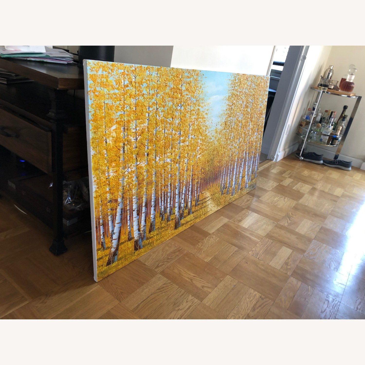 Autumn Bamboo Forest Painting on Canvas - image-4