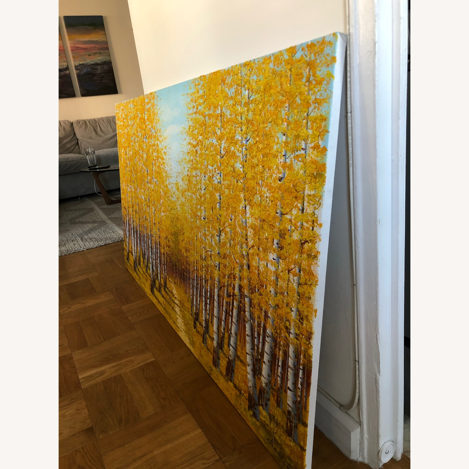 Autumn Bamboo Forest Painting on Canvas - image-5