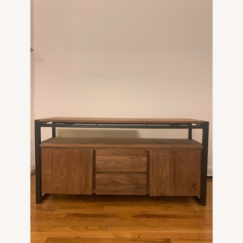 Used ABC Home Reclaimed Teak & Wrought Iron Console for sale on AptDeco