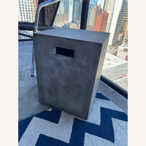 Used CB2 Concrete Block Outdoor Tables for sale on AptDeco