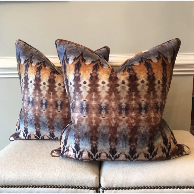 Custom Ikat Print Pillows