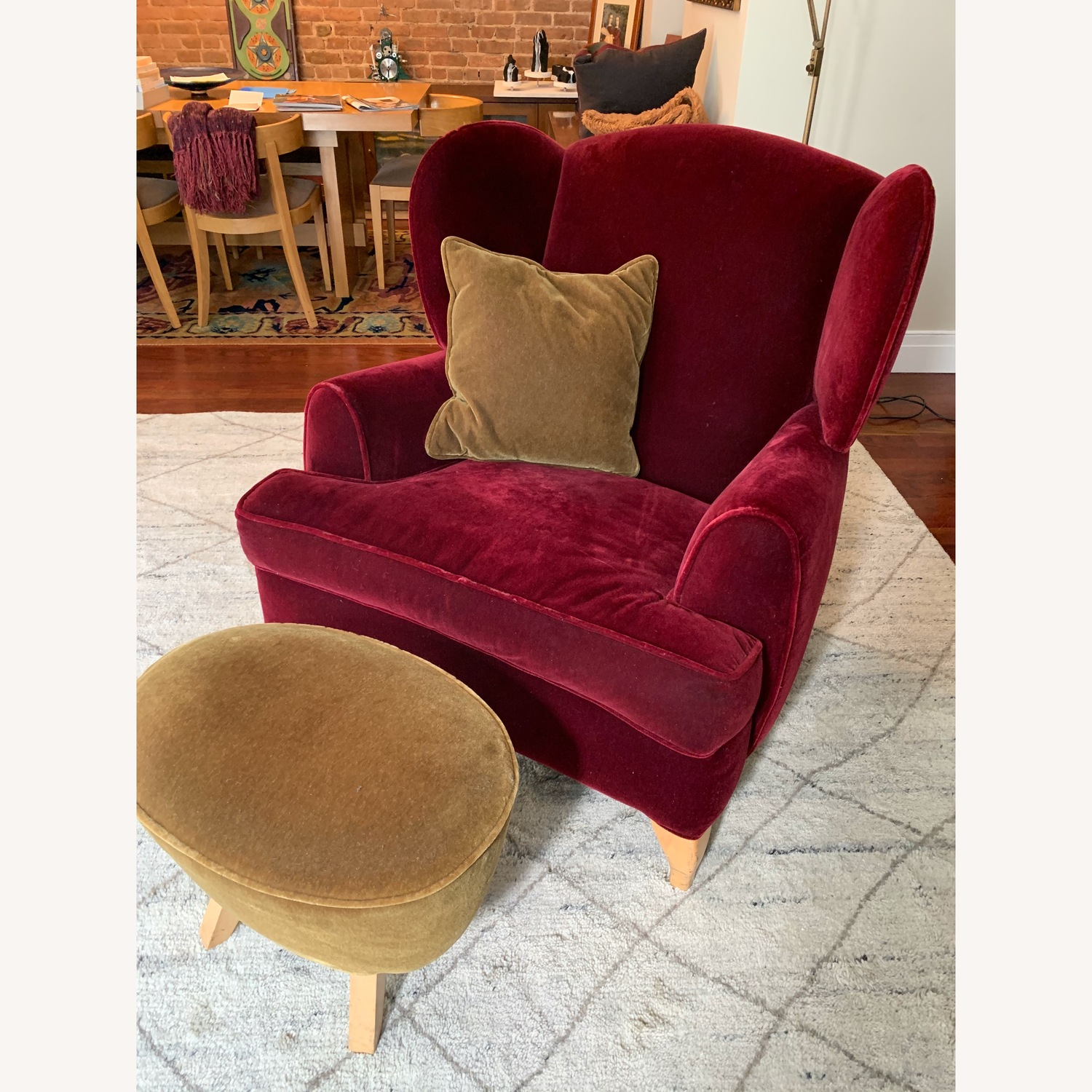Oversized Wingback Chair with Ottoman