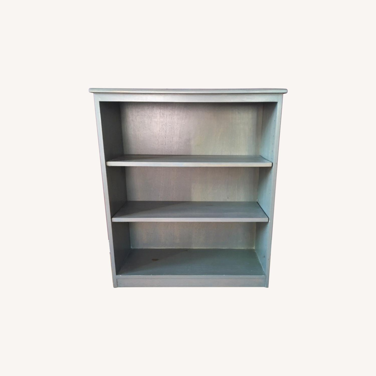 Blue Wooden Bookcase - image-0