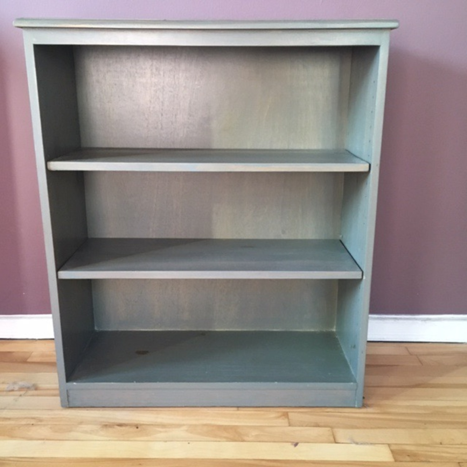 Blue Wooden Bookcase - image-1