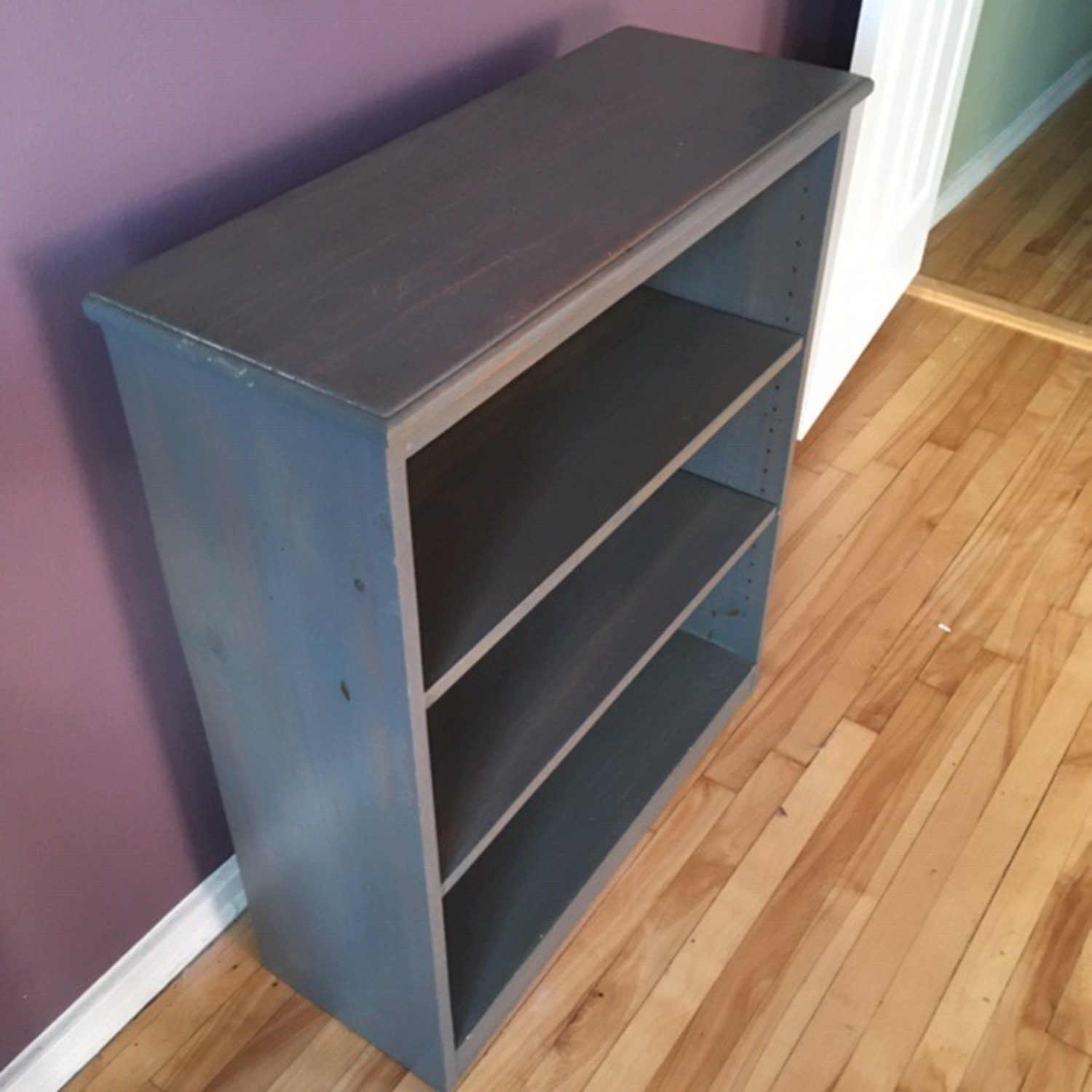 Blue Wooden Bookcase - image-2