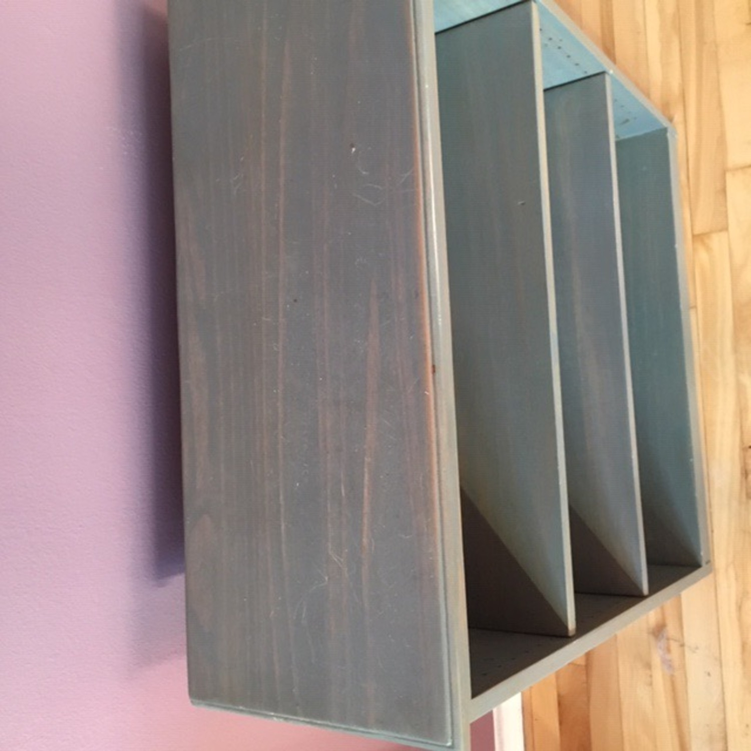 Blue Wooden Bookcase - image-3