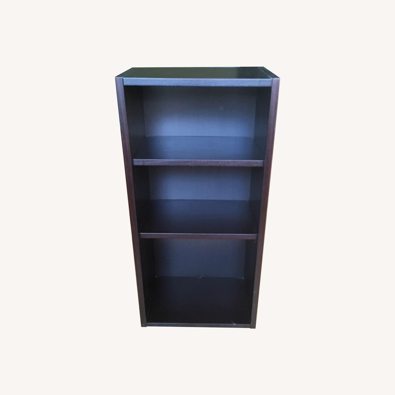 Black Wooden Bookcase - image-0