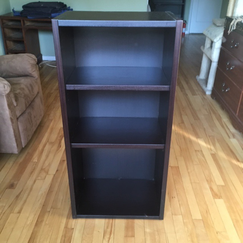 Black Wooden Bookcase - image-4