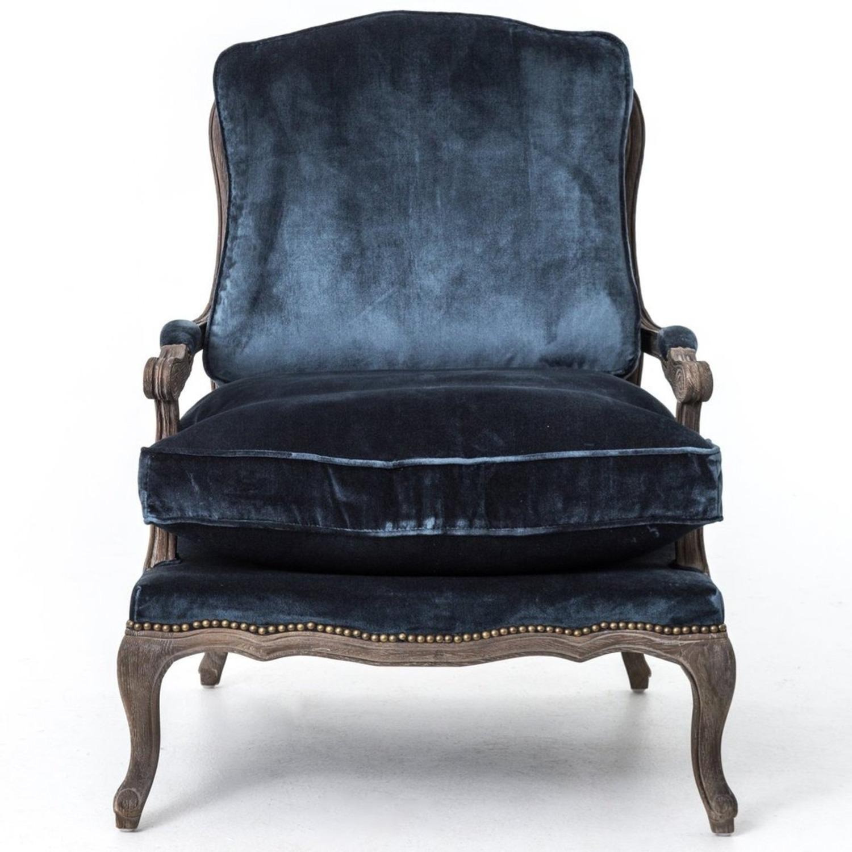 Boutique Blue Velvet Accent Chair