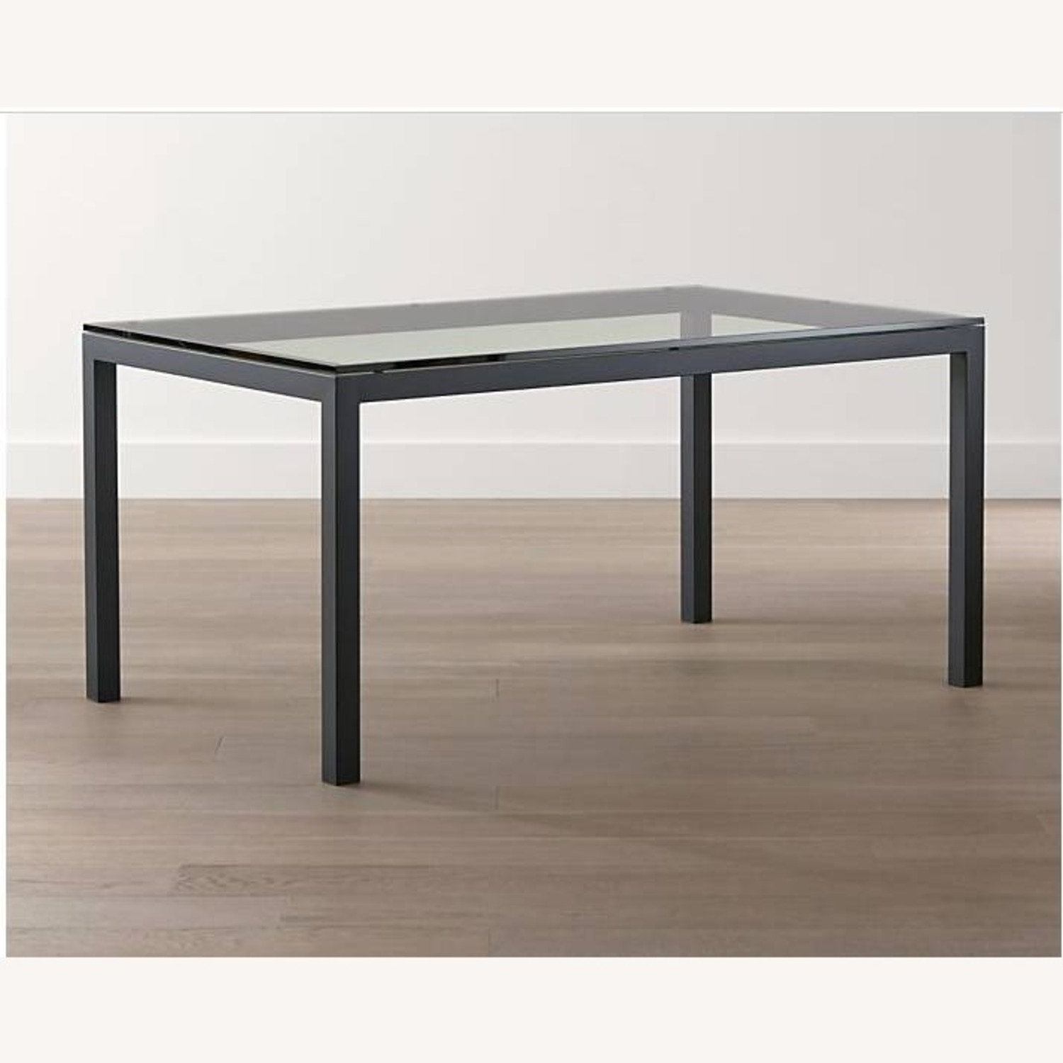 Crate & Barrel Parsons Clear Dining Table - image-7