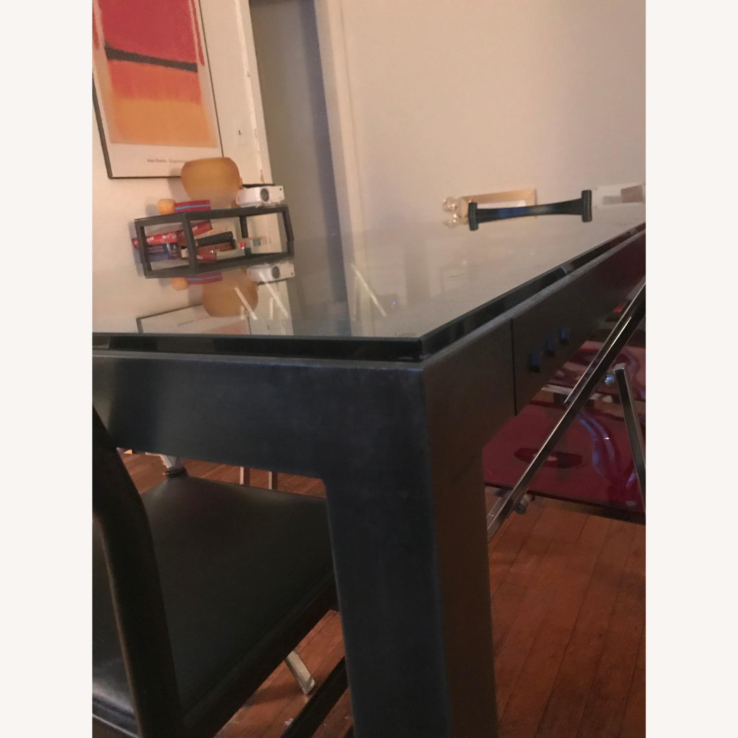 Crate & Barrel Parsons Clear Dining Table - image-3