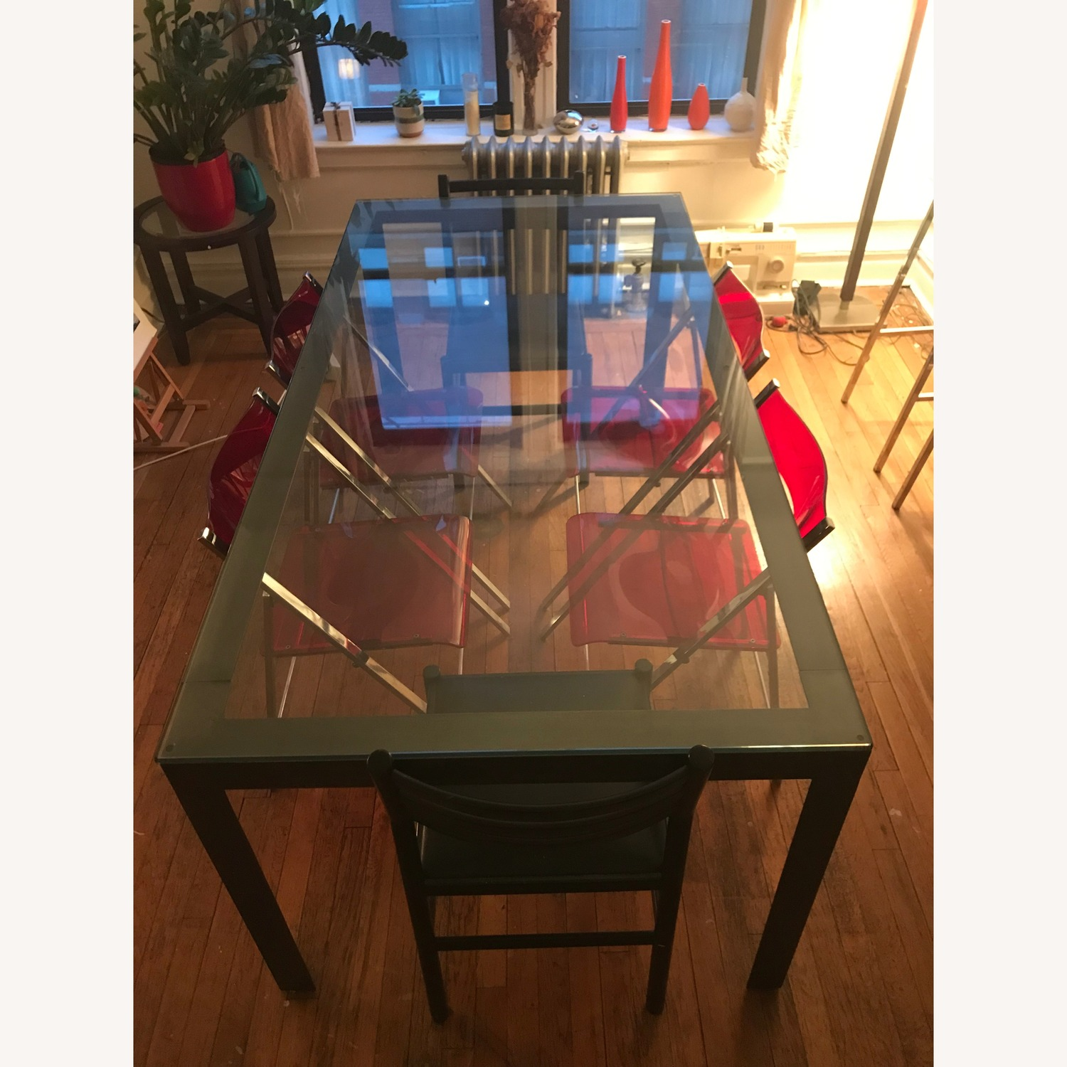 Crate & Barrel Parsons Clear Dining Table - image-5