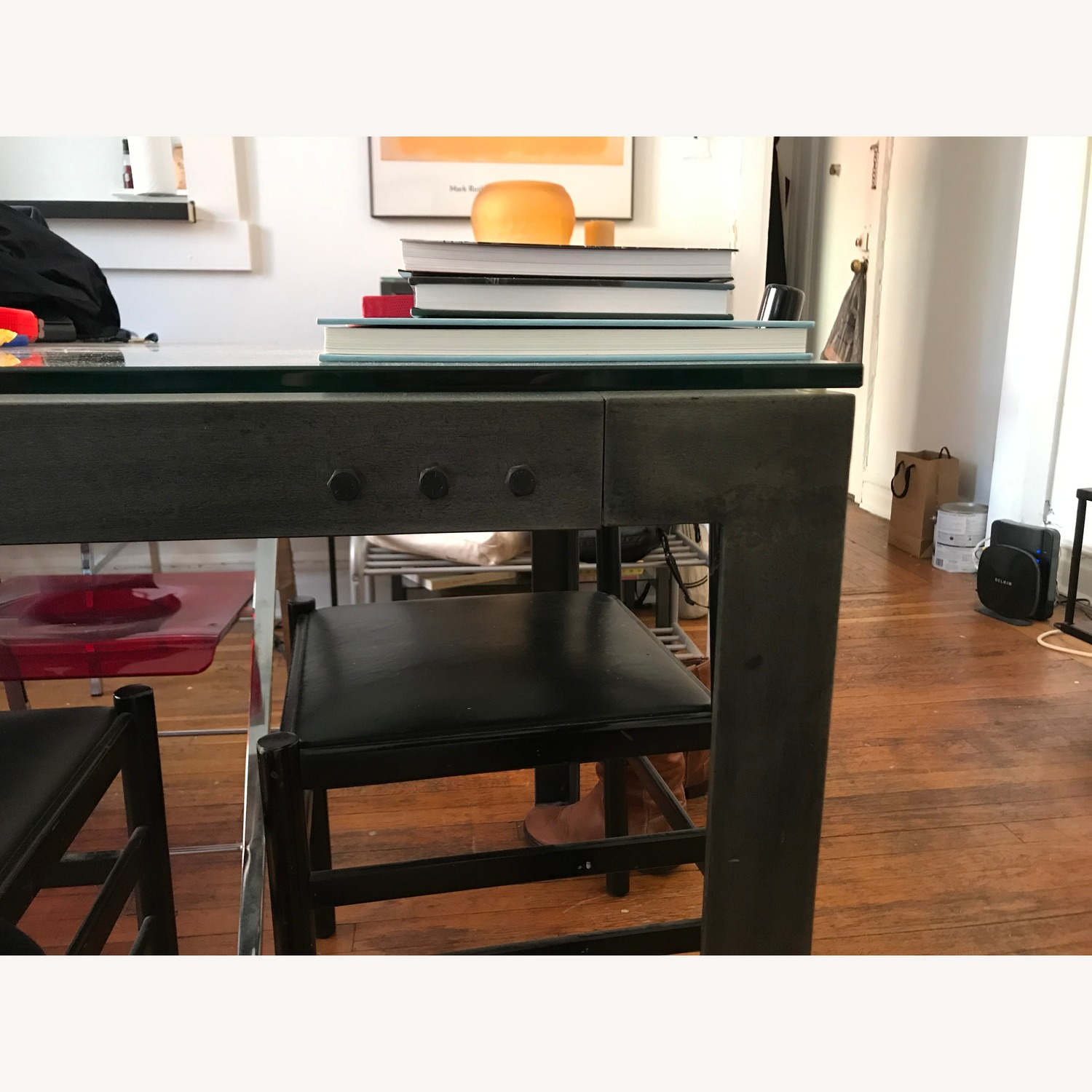 Crate & Barrel Parsons Clear Dining Table - image-2