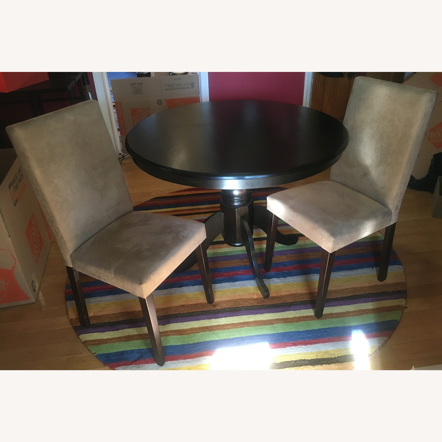 Coaster Fine Gold-Taupe Faux Leather Dining Chairs
