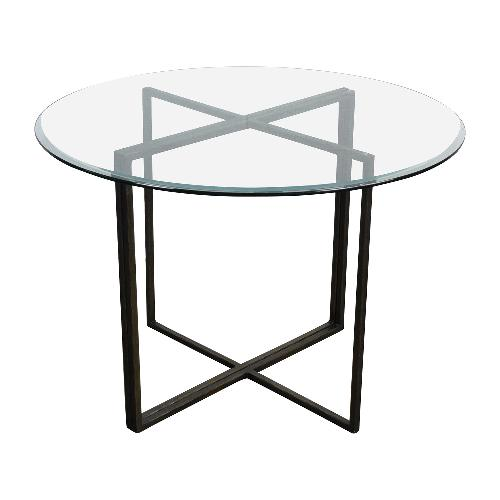 Used Crate and Barrel Everitt Glass Dining Table for sale on AptDeco