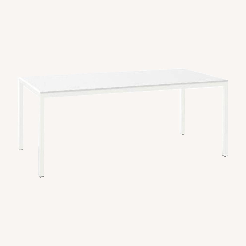 Room & Board White Steel Pratt Table - image-0